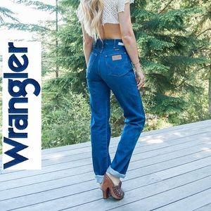 Wrangler • Vtg High Waist Mom Jeans Sz 11/12 Tall